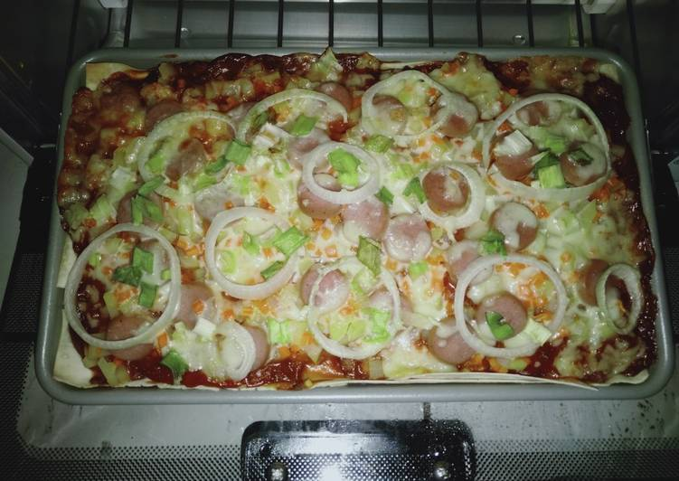 1Pizza Kulit Pangsit by Uliz Kirei