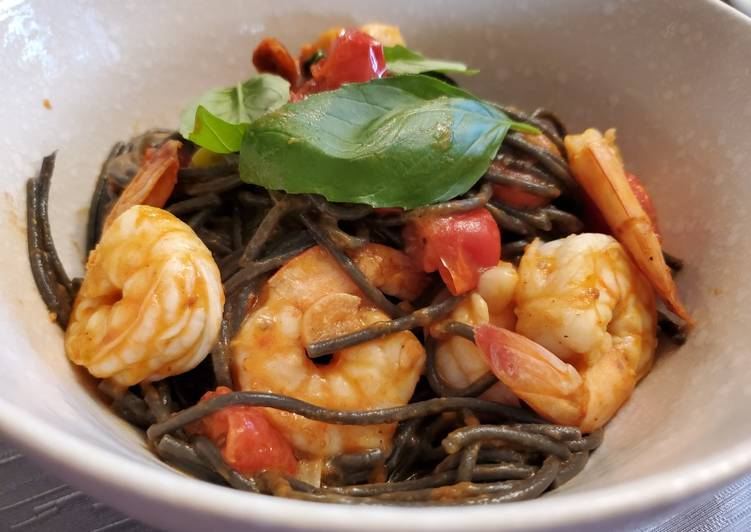 The Food Items You Select To Consume Are Going To Effect Your Health Squid Ink Pasta with Shrimp
