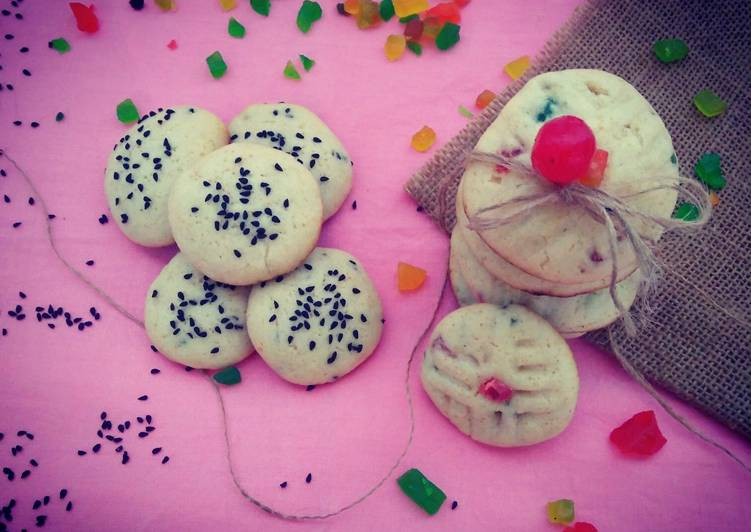 Tutti Frutti and Black Cumin Cookies