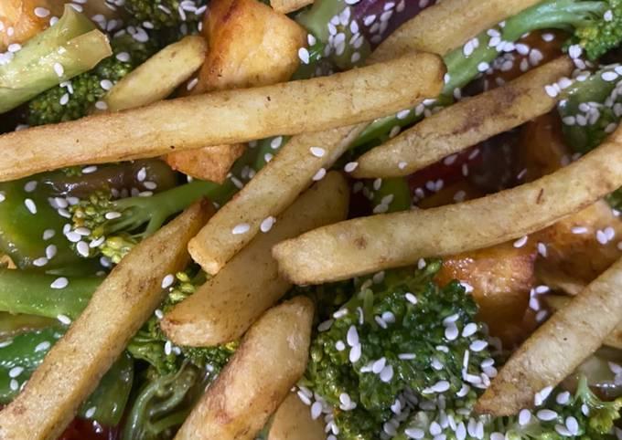 Broccoli and Paneer Stir Fry