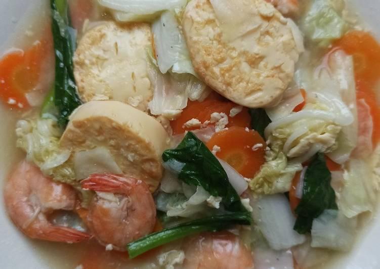 Capcay Udang Tofu