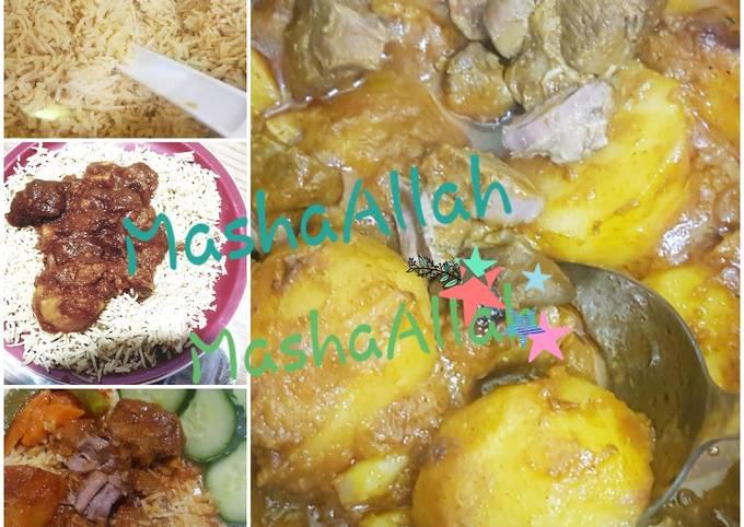Abluqs lamb mchuzi and rice recipe!