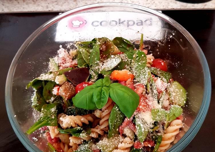 Recipe of Quick My Italian inspired Pasta Salad with pancetta. 😀