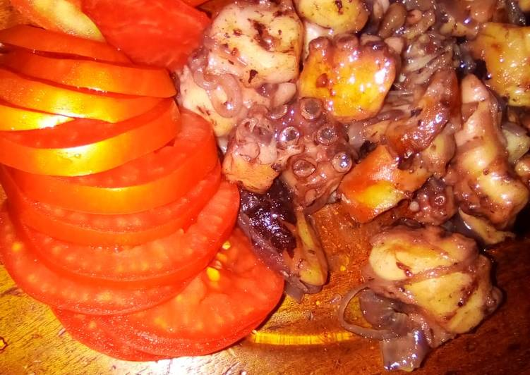 Easiest Way to Make Speedy Pweza wa kukaanga(fried octopus)