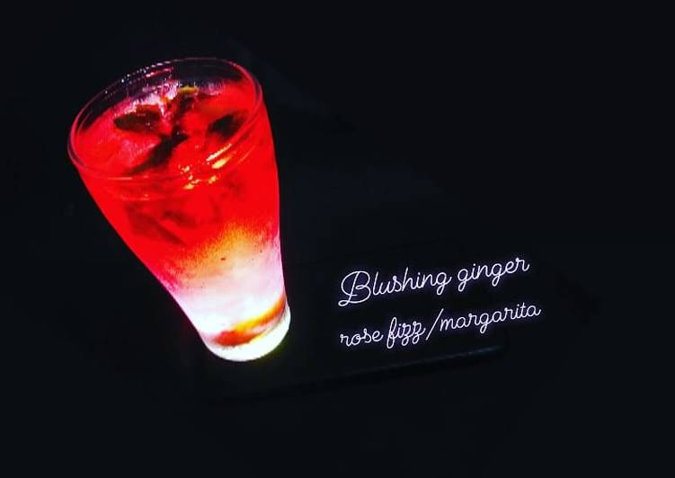 Step-by-Step Guide to Prepare Favorite BLUSHING GINGER ROSE FIZZ/MARGARITA #5ing