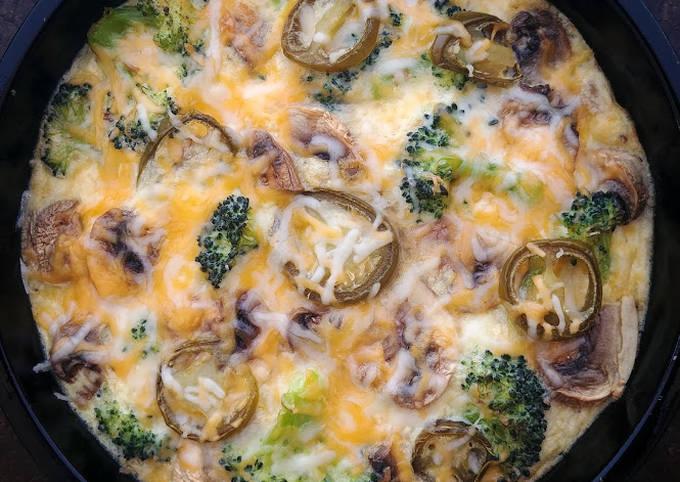 Broccoli and Mushroom Omelette