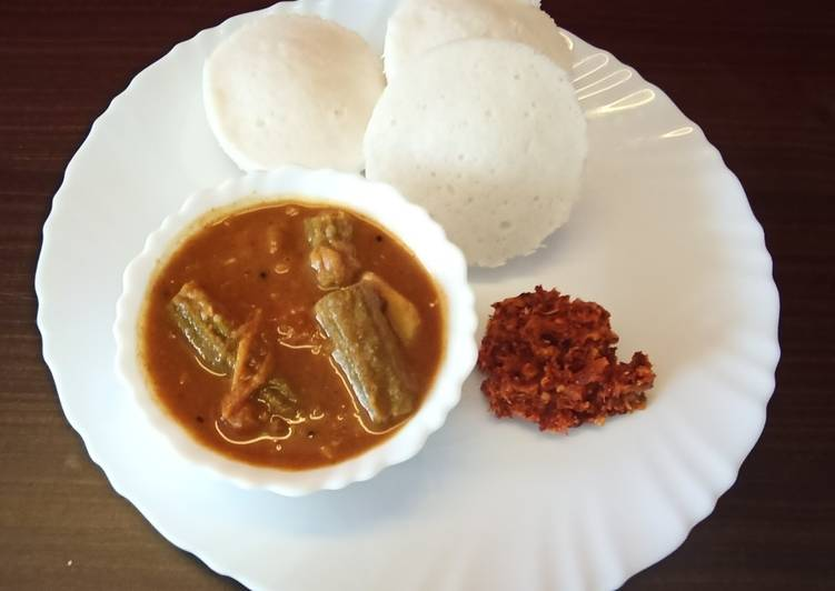 Steps to Make Perfect Idli,sambar and spicy chutney
