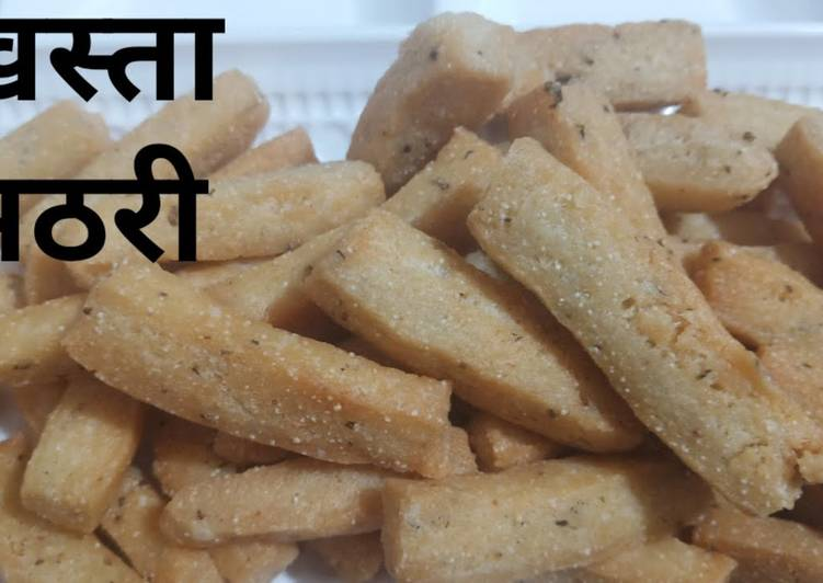 Crispy Suji & Maida Mathri Recipe...Tea Time Snack Recipe