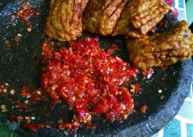 Resep Sambal bawang cabe merah Anti Gagal