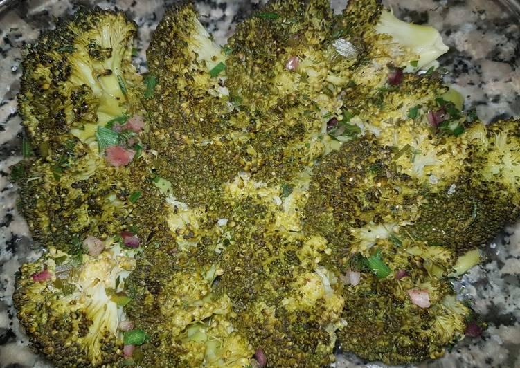 Brocolis au citron et herbes aromatiques