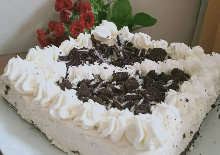 No bake yoghurt oreo cheesecake