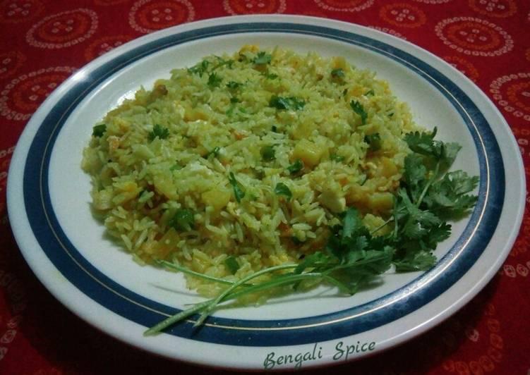 Paneer potato fried rice