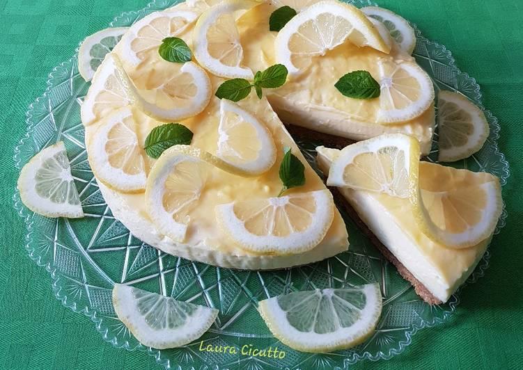 Ricetta Cheesecake con crema al limoncello