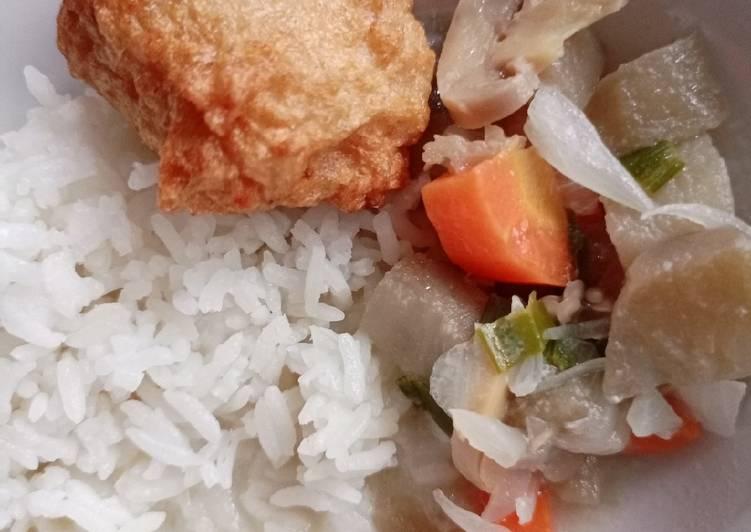 Day. 229 Fish Cake dan Sayur Terong Jamur Santan (13 month+)