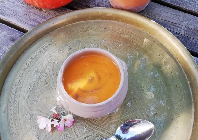 Velouté carottes et patate douce au cumin