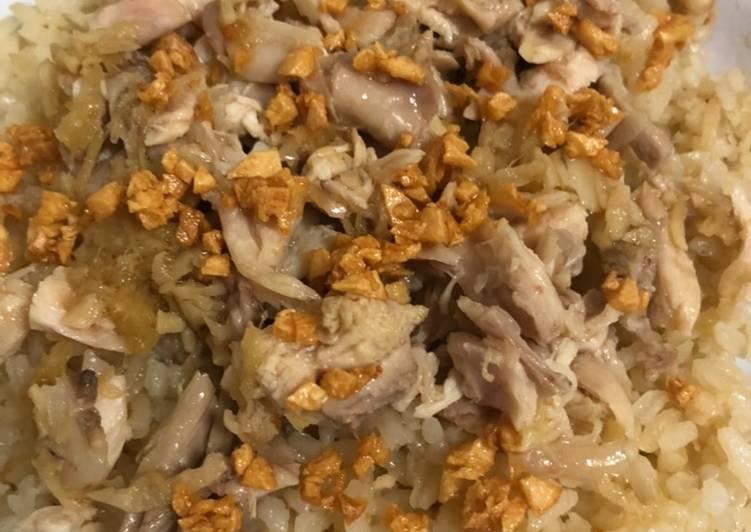 Nasi hainam ayam pecamke
