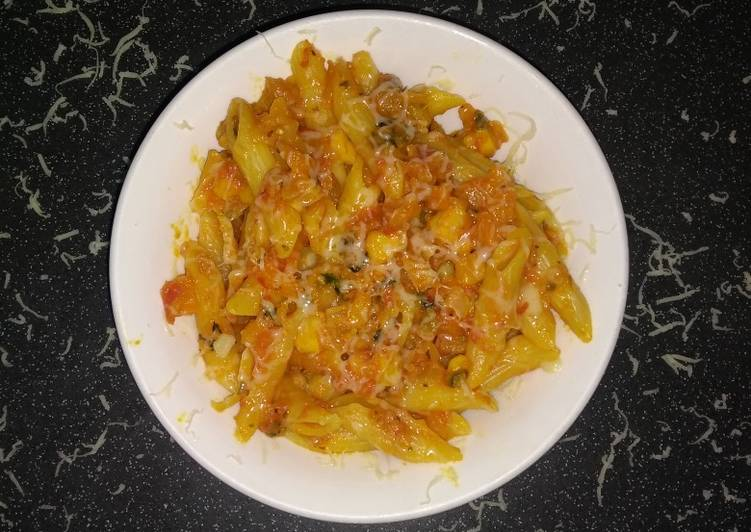 Simple Way to Prepare Homemade Vegetable pasta