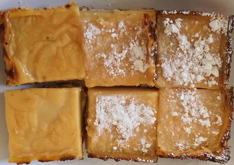 Lemongrass Flavoured Lemon Bars Recipe