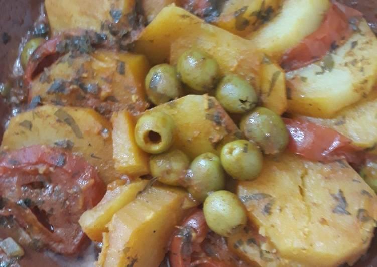 Comment Cuisiner Pour aujourd'hui tajin de pomme de terre rapide