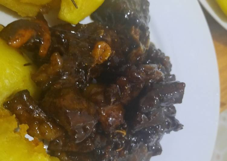 Recipe of Super Quick Homemade Honey glazed mbuzi