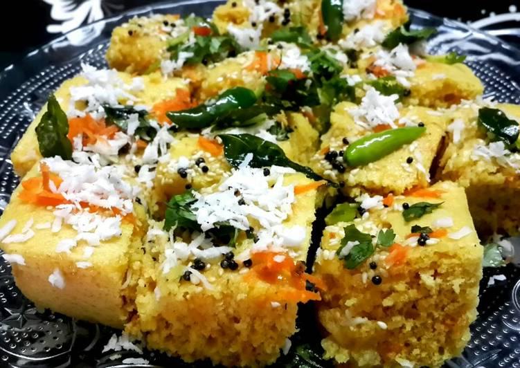 Healthy veg khaman dhokla in microwave