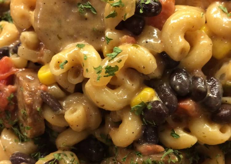 Use Food to Improve Your Mood Meaty Cheesy Mexican Pasta