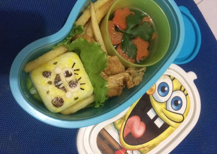 Bento spongebob ala fe