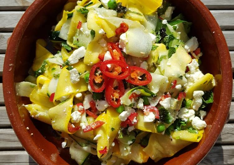 Recipe of Ultimate Summer courgettes with feta, mint and chilli