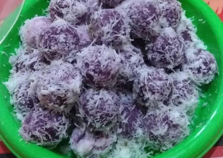 Resep Klepon ubi ungu gula merah