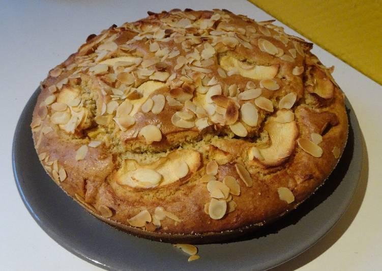 Recette Savoureux Gâteau aux pommes et aux amandes