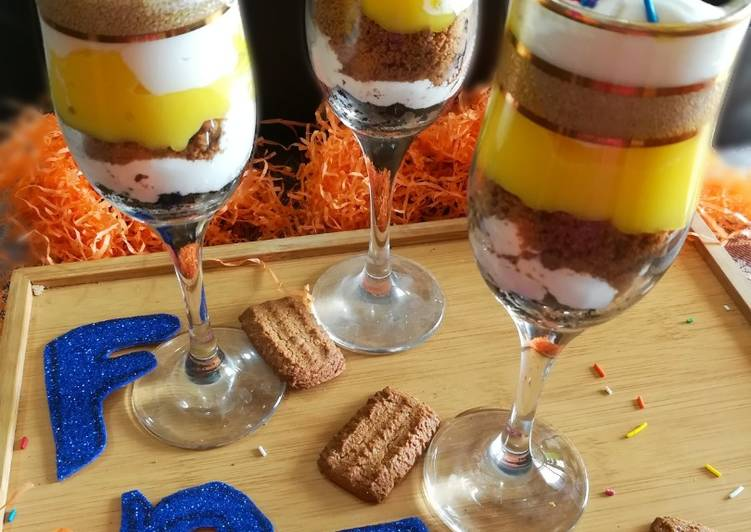 Steps to Prepare Homemade NO BAKE CHEESECAKE DESSERT #Foodies&Friends