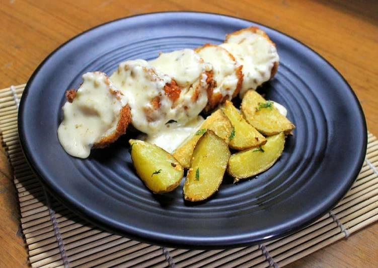 Creamy Chicken Cordon Bleu with Roasted Potato