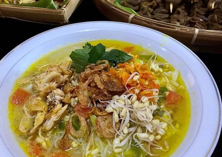 Resep Soto Ayam Kuah Kuning, Anti Gagal