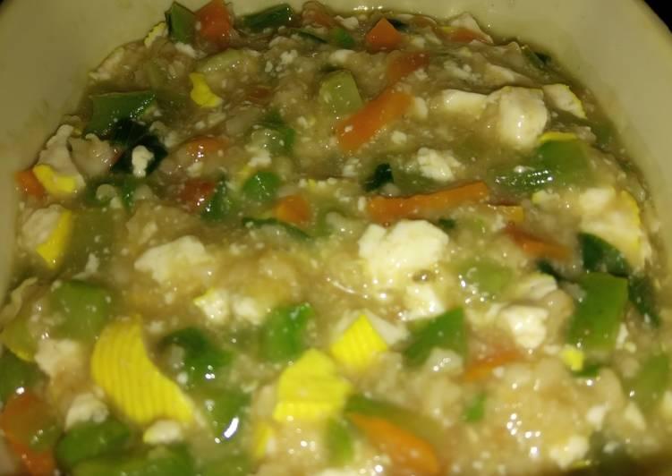 Bubur oatmeal (menu diet)