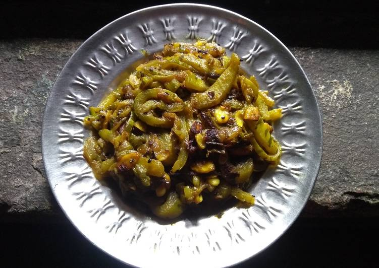Simple Way to Make Ultimate Snake gourd stir fry