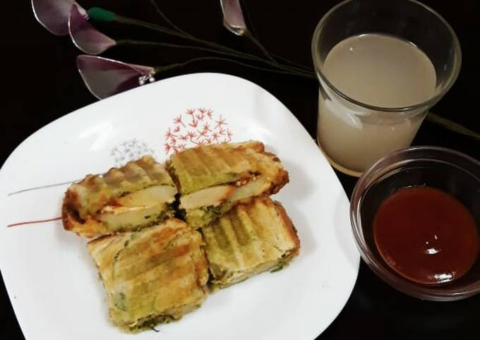 Grilled Potato-Cheese Sandwich