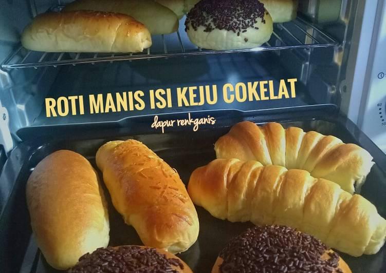Roti manis isi keju cokelat