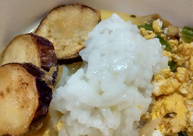 Day. 87 Nasi Sayur Sop Telur dan Terong Goreng Tepung (8 month+)