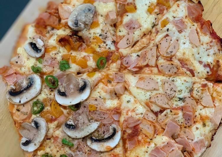 Pizza casera al sartén