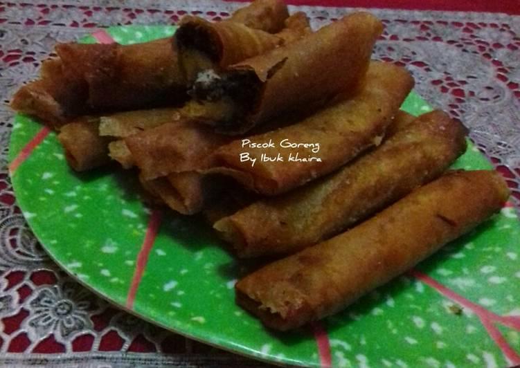 Resep Pisang Coklat Goreng Piscok Kulit Lumpia Lezat Delicious And Yummy Recipes