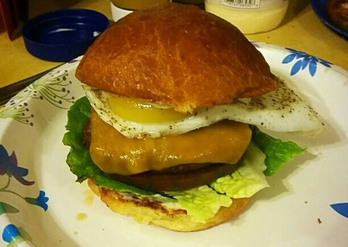 Eggscellent Bison Burger