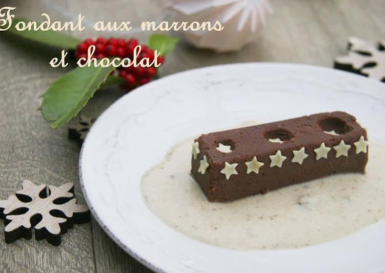 Fondant aux marrons et chocolat