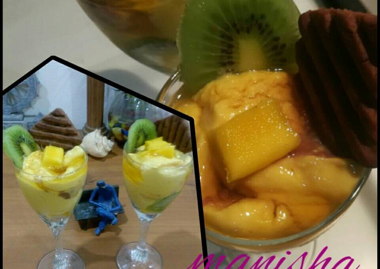 Simple Way to Make Any-night-of-the-week Hide and seek mango cheese cake with mango mousse