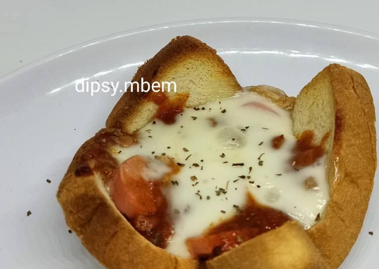 Pizza Sosis Roti Tawar