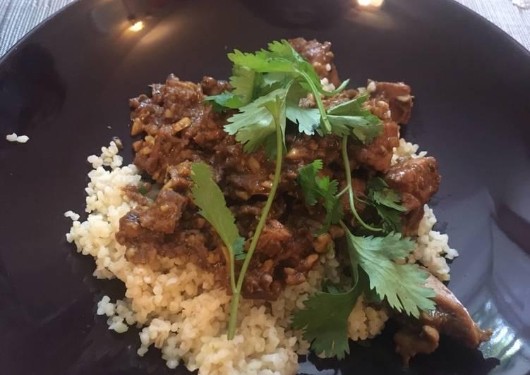 Persian walnut stew (vegan)