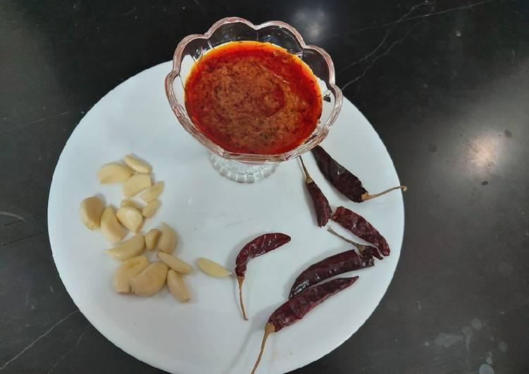 Recipe: Appetizing Red chili garlic chattny