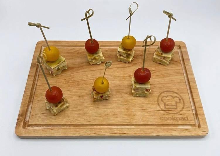 Recette: Bouchées d'Omelette aux Poivron et Cheddar