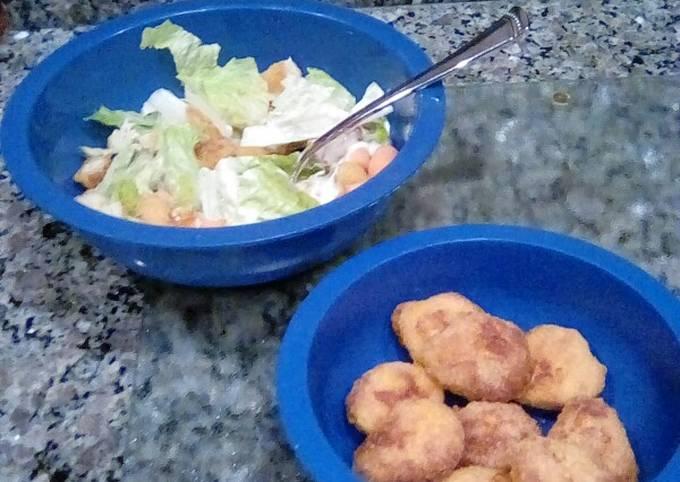 Chicken Nugget Salads