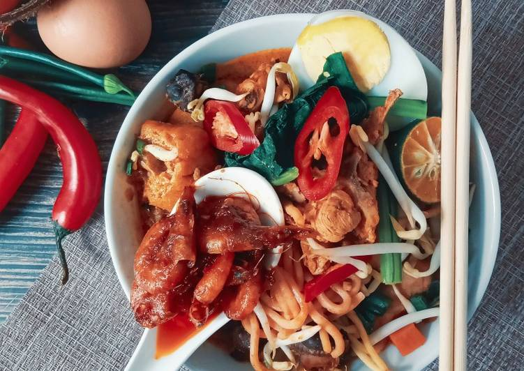 Resepi:  Mee Kari Sambal Udang #PhopByLiniMohd #Batch20 Simple