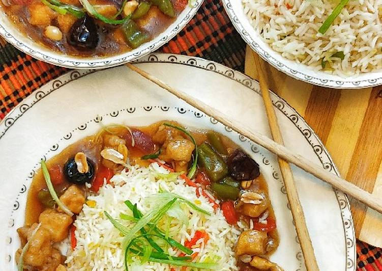 Advice to Devise Tasty Kungpao chicken with fried rice in one hour
